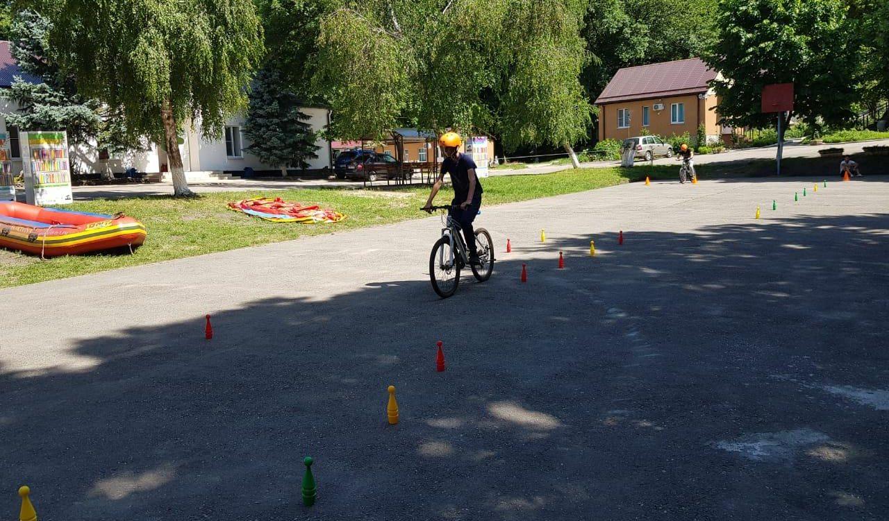 День в лагере «Траектория» посвящён велосипедному спорту