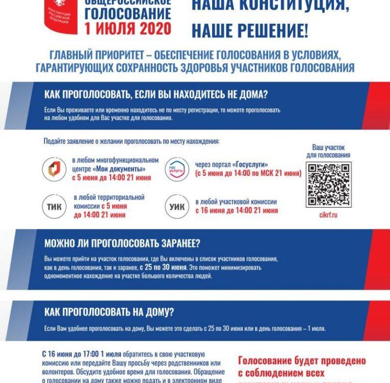 1 июля 2020 года состоится общероссийское голосование изменения в Конституцию Российской Федерации.